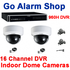 Bosch Retail Security 960H 16 channel DVR Indoor Dome Camera kit