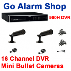 Bosch House Security Cameras 960H 16 channel DVR Mini Bullet kit