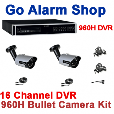 Bosch Security 960H 16 channel DVR Bullet kit with self Monitoring capability