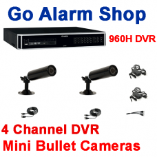 Bosch Security Closed Circuit Camera System 960H 4 input DVR Mini Bullet kit