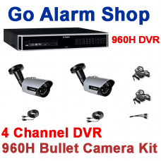 Bosch Domestic Camera System 960H 4 channel DVR Bullet kit