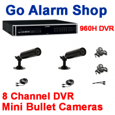 Bosch Security Camera System 960H 8 input DVR Mini Bullet kit