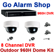 Bosch Industrial Security 960H 8 channel DVR Outdoor Dome Camera kit