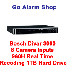 Bosch DVR-3000-08A100 8 Camera Inputs 960H Real Time Recoding 1TB Hard Drive