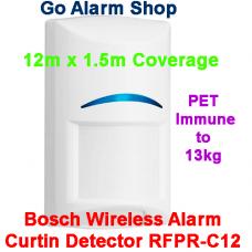 Bosch Wireless Alarm Curtin Detector RFPR-C12 PIR 12m x 1.5m