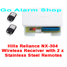 Hills S1890A Security Reliance NX-304 Wireless Receiver with 2 x Stainless Steel Remotes