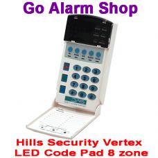 Hills S4158 Reliance Vertex Alarm LED Code Pad 8 zone