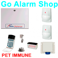 Hills Alarm System S7942K Reliance R12/NX12 Security Kit with Quad PET Immune PIR detector