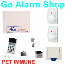 Hills S7940K Home Alarm Reliance R4 Alarms Kit Quad PET Immune PIR detectors