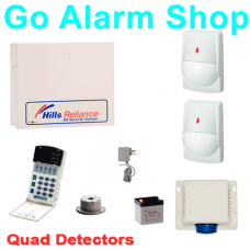 Hills S7434K Home Alarm Reliance R4 Security Kit 2 x Quad PIR detectors