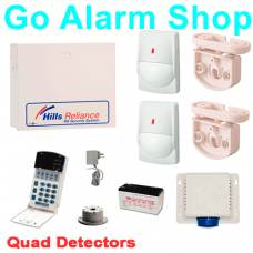 Hills Business Alarm Kit S7435K Reliance R8/NX8 Alarms with Quad Security Detectors