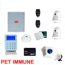NESS D8X Wireless Home Security kit KPX LCD keypad 2 x LUX PET sensors
