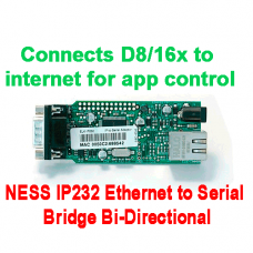 NESS Security K-6002 IP232 Ethernet to Serial Bridge Bi-Directional